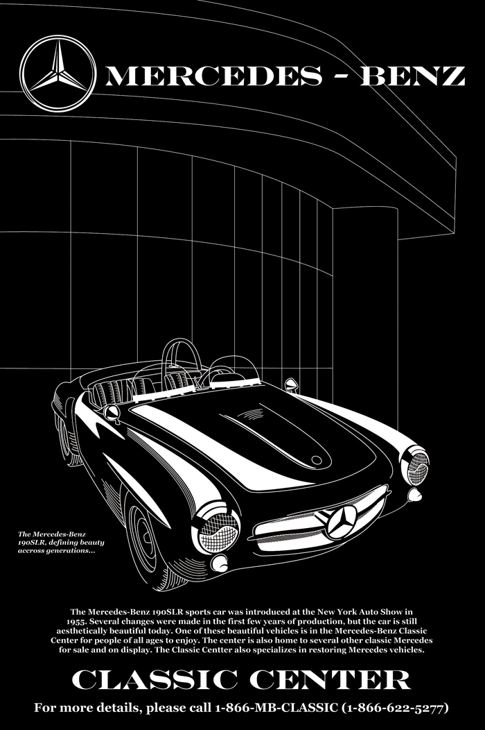 Mercedes poster ryhudd design for Mercedes benz poster