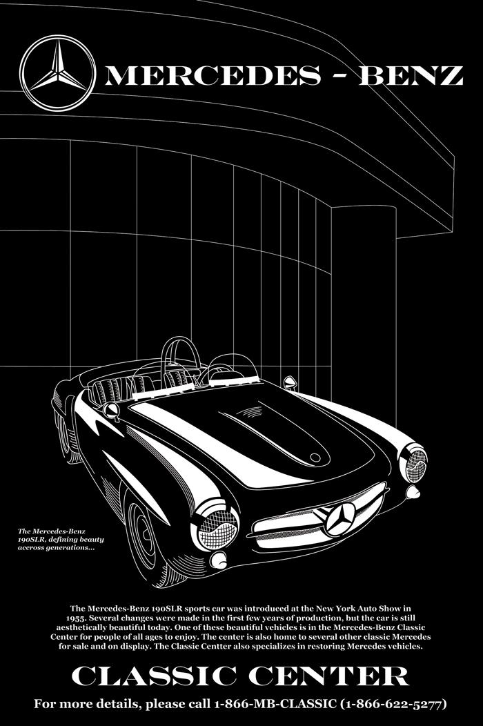 Mercedes Poster 171 Ryhudd Design