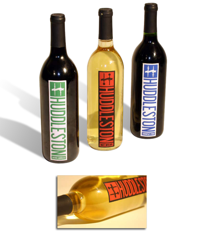 Huddleston Wine Labels